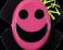 Slidery Wiz - Smajlík růžovo-černý